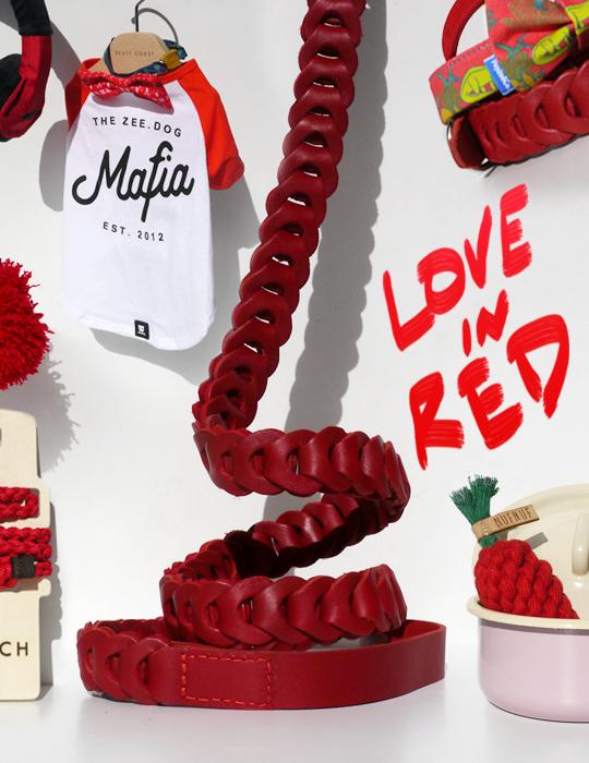 真っ赤な犬用品「Love in Red」