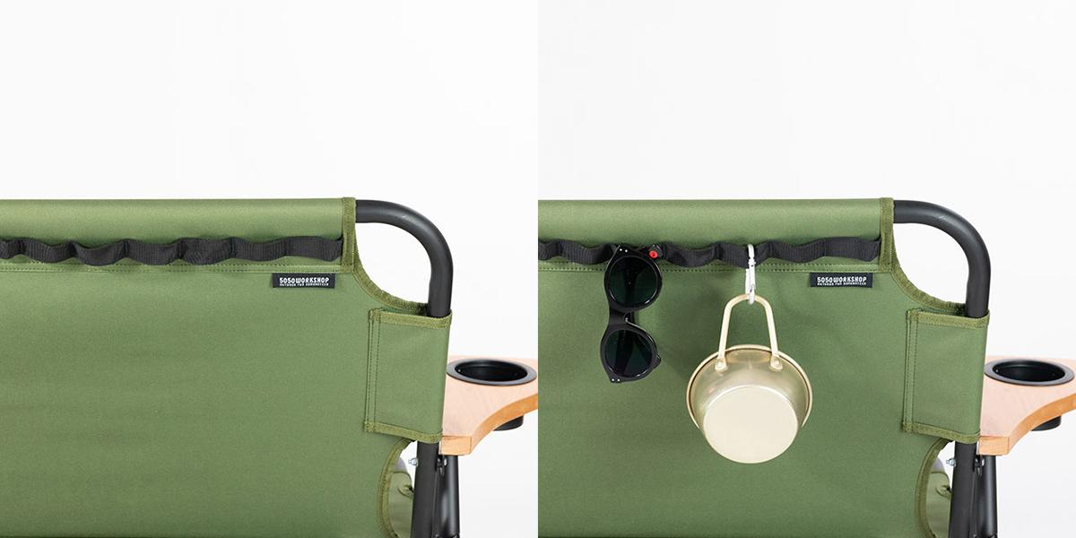 キャンプ用ベンチ