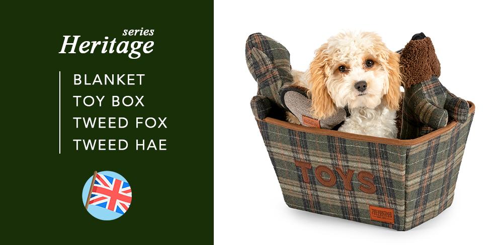 イギリス生まれの愛犬の日用品「HERITAGE」シリーズ