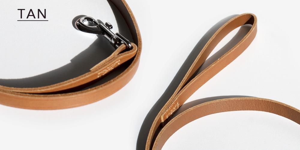 幅広レザーカラー(首輪)- ブラック|アンコル