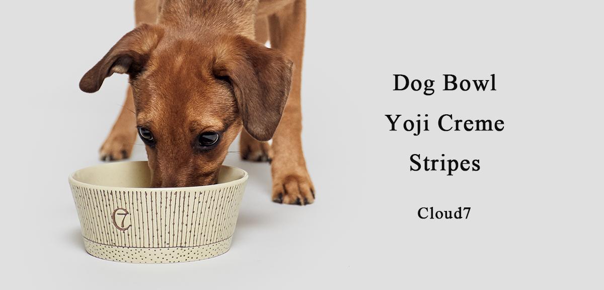 ドイツ生まれの陶器でできた愛犬用器  Dog Bowl Yoji Stripe by Cloud7