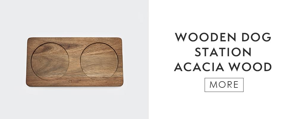 Cloud7 dog station acacia wood