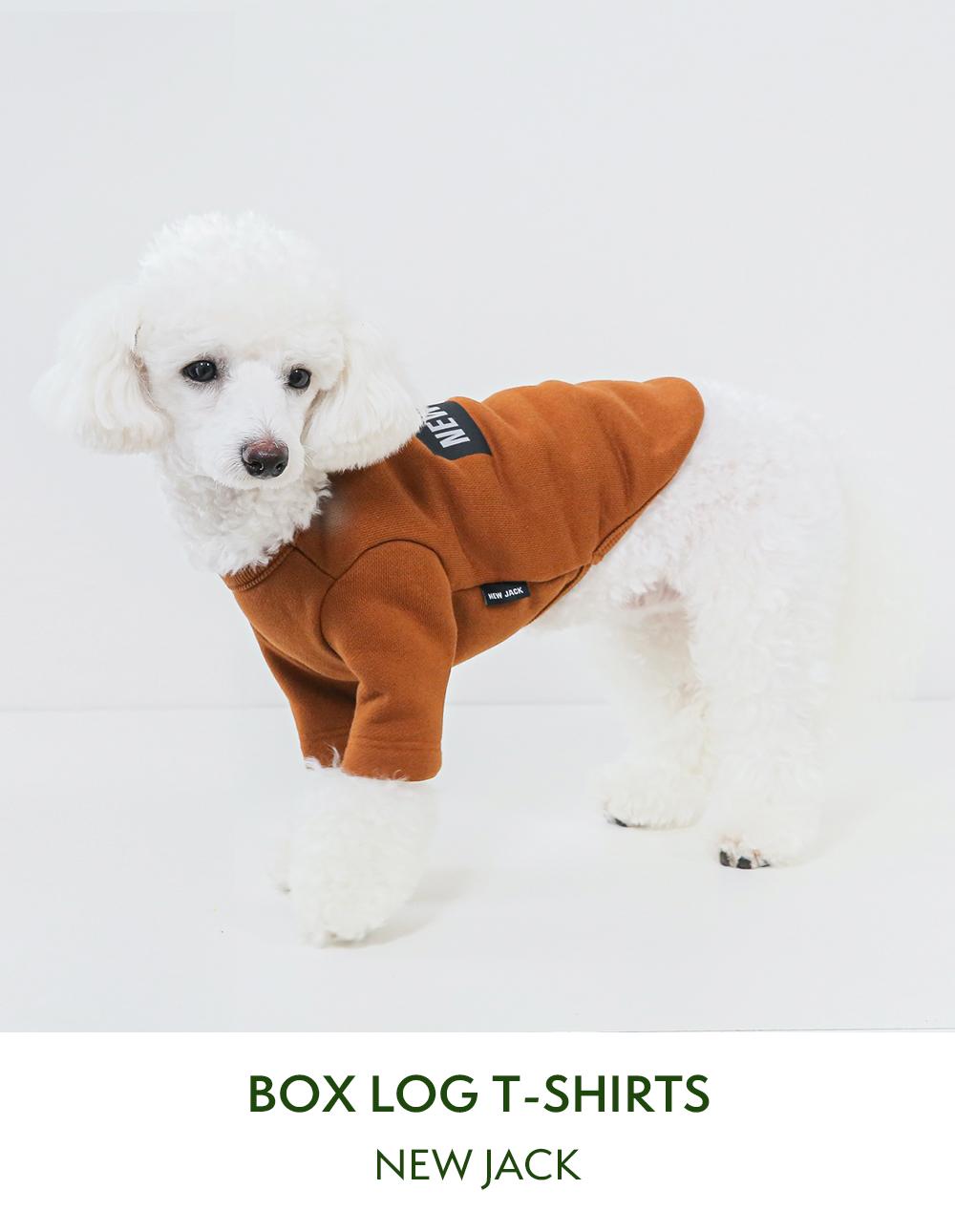 シンプルなロゴ入り愛犬用Tシャツ|モデル:トイプードル
