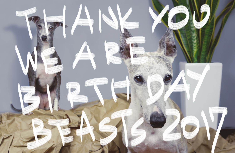 ジーンとダーコのお誕生日記録。これまで。
