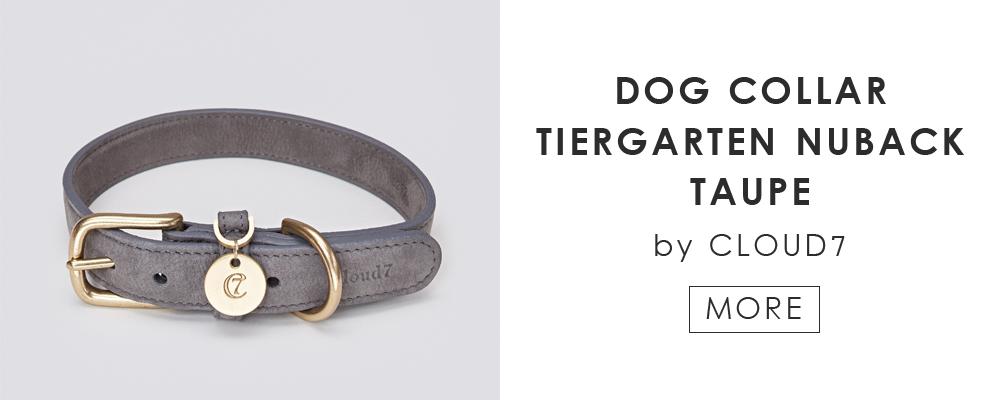 ドイツ生まれのドッグブランド「Cloud7」の愛犬用カラー DOG COLLAR TIERGARTEN NUBACK TAUPE by Cloud7
