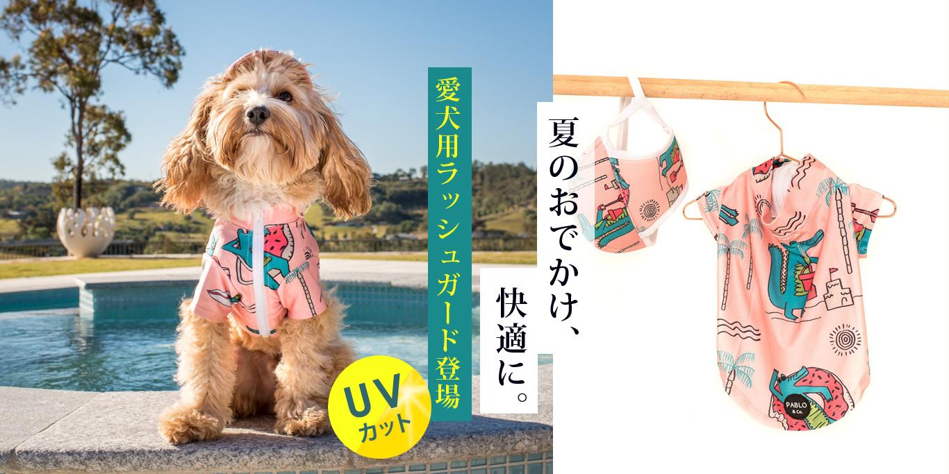 オーストラリア生まれのドッグブランド「Pablo&Co.(パブロ&コー)」から、サーモンピンクの愛犬用ラッシャガードを入荷しました。