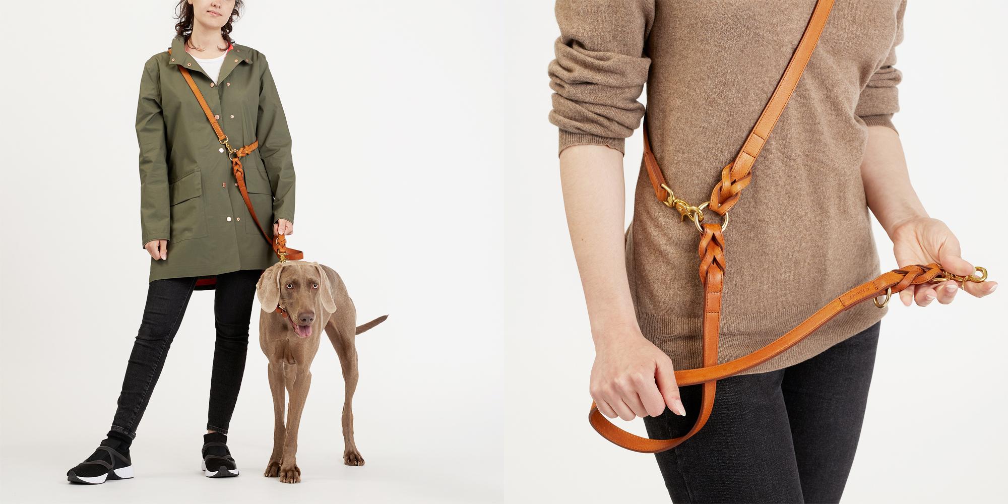 愛犬用革製リード。肩からかけたり複数の方法でご利用いただけます。/ Cloud7
