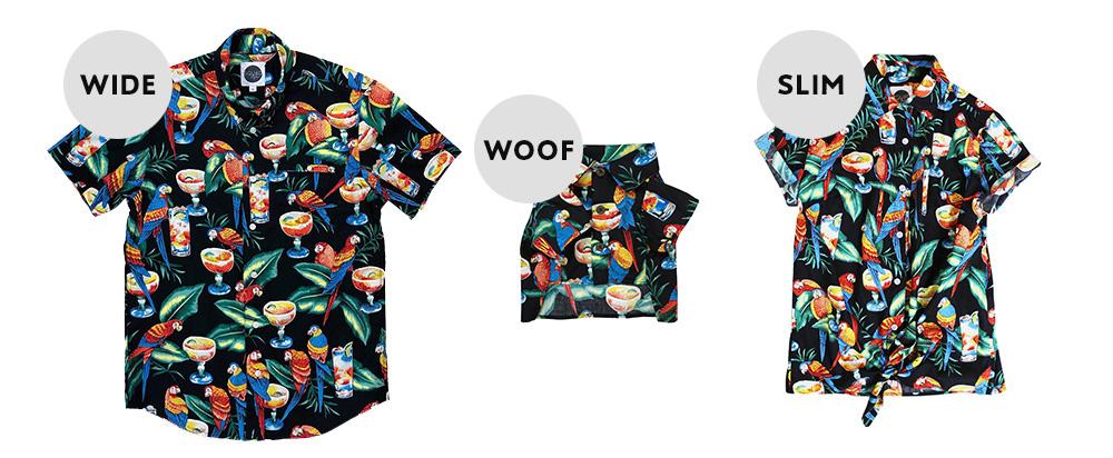 家族で着れる、犬用・人用アロハシャツ